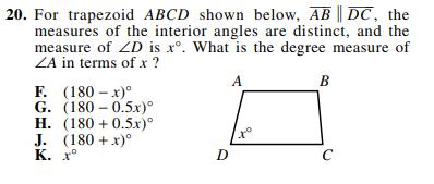 ACT-1572 Math Q 20