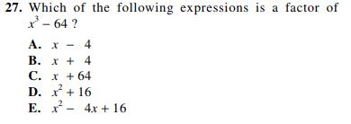 ACT-1874 Math Q 27