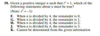 ACT-1874 Math Q 58