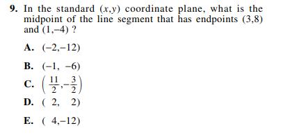 ACT-1874 Math Q 9
