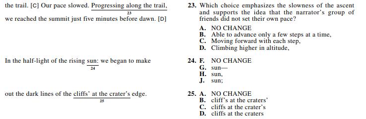 ACT 1572,English Q 23-25