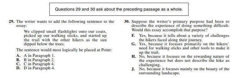 ACT 1572,English Q 29-30