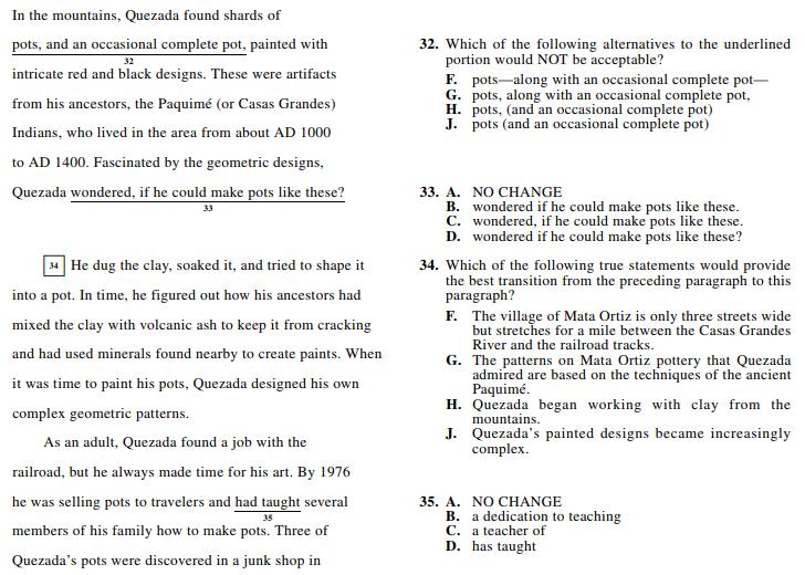 ACT 1572,English Q 32-35