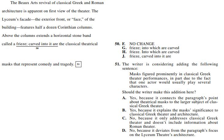 ACT 1572,English Q 50-51