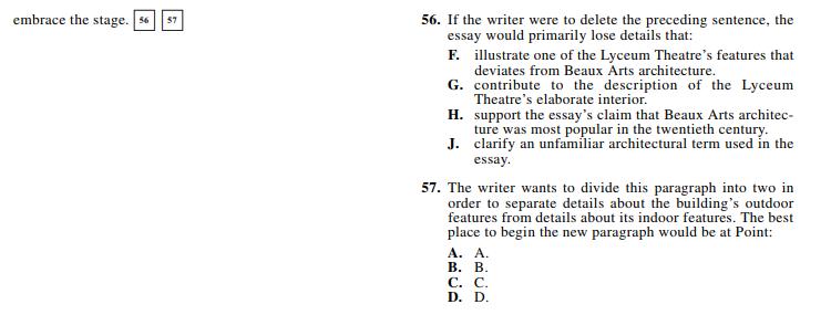 ACT 1572,English Q 56-57